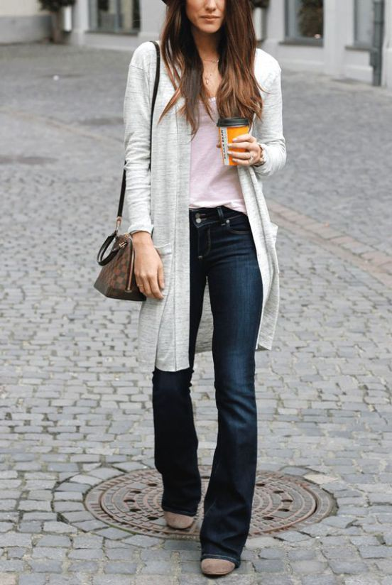 Black bootcut jeans outfits, Casual wear