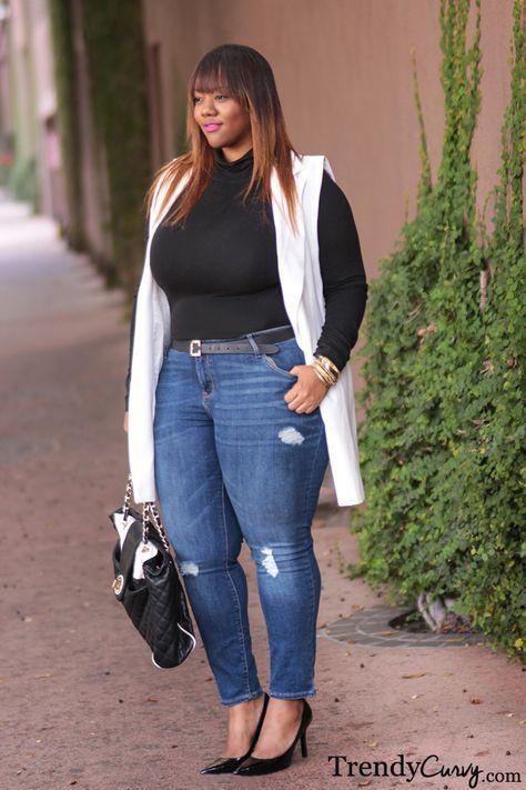 Plus size jeans trendy curvy Jeans