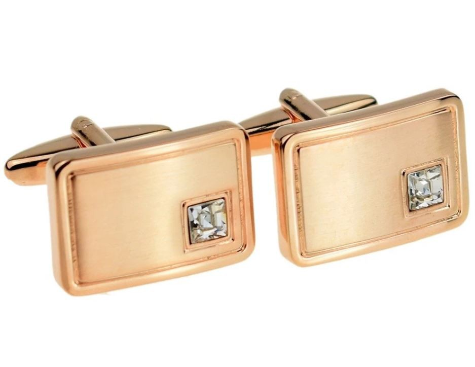 Initial Personalised April Birthstone (Clear Diamond) Cufflinks £24.99