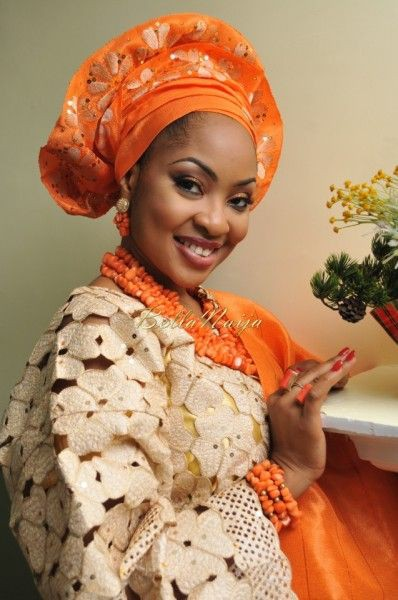 Aso Oke hat Nigerian Dresses For Nigerian Brides, Head tie