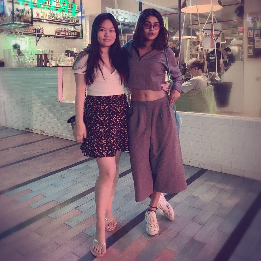 Cute Sakshi Pradhan With Friend
