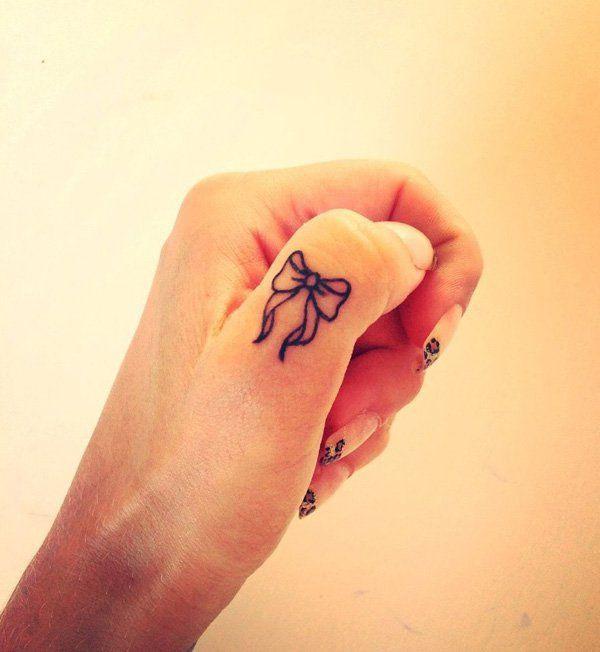 Love it. It's mine ribbon finger tattoo, temporary tattoo