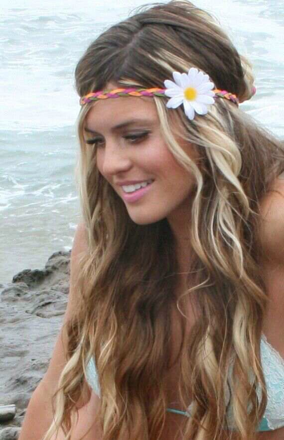 Stunning ideas for hairstyle on beach, Human hair color
