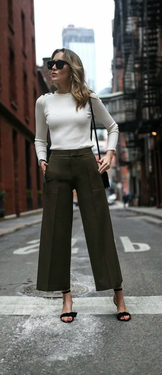Korean Culottes Outfit