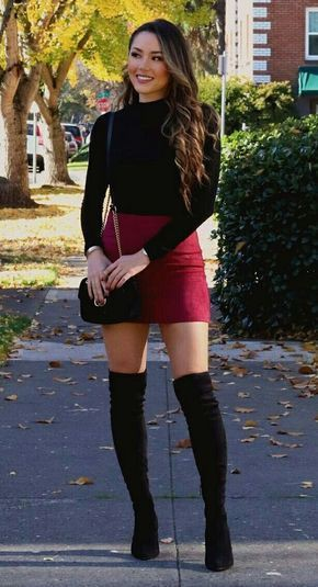 Thigh high boots outfit, Thigh-high boots