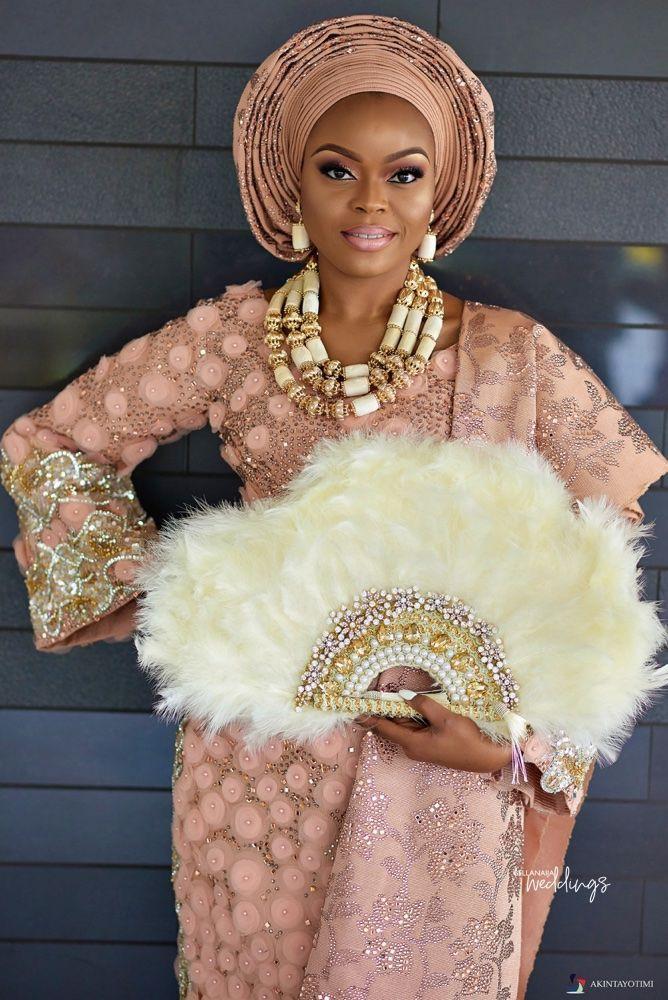 Classic glamorous nigeria traditional wedding, Wedding dress