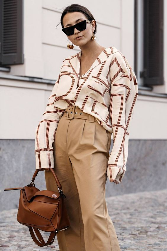 Geometric top street style, Street fashion