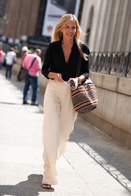 Wide leg trousers outfit