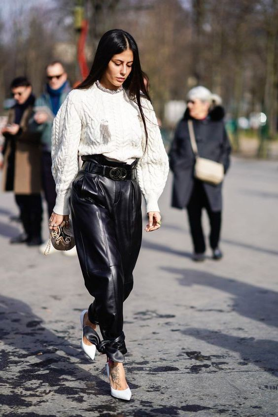 Trending and popular fashion model, Leather jacket