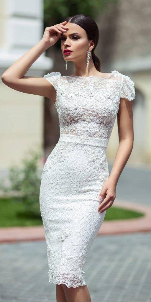 25 best and stylish pencil wedding dress