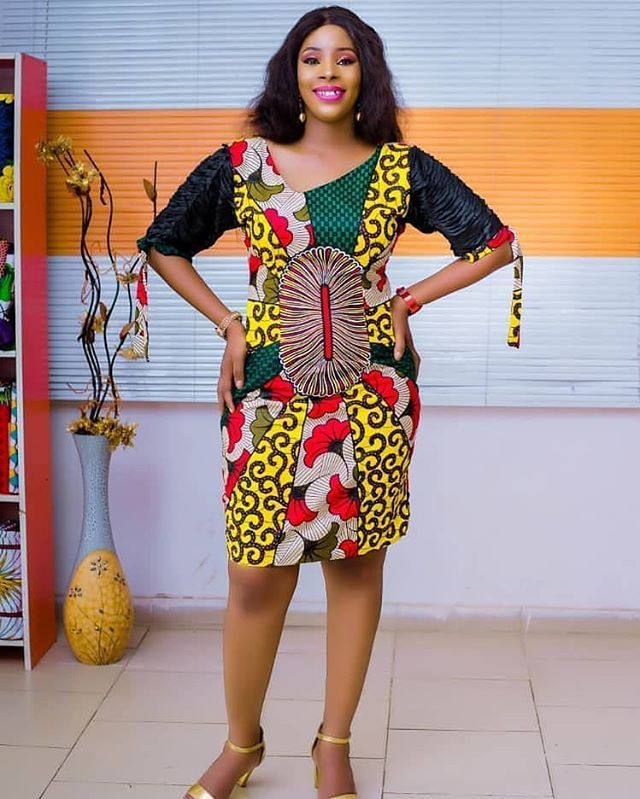 Simple ankara short gown, day dress