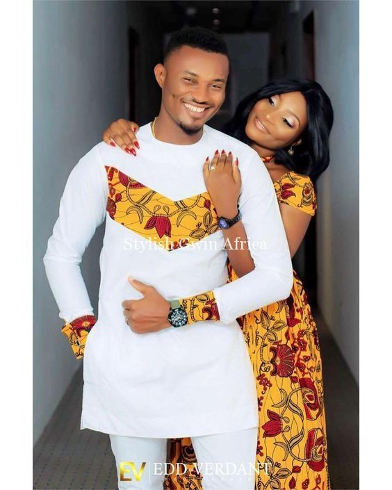 African clothes for couple, Wedding dress