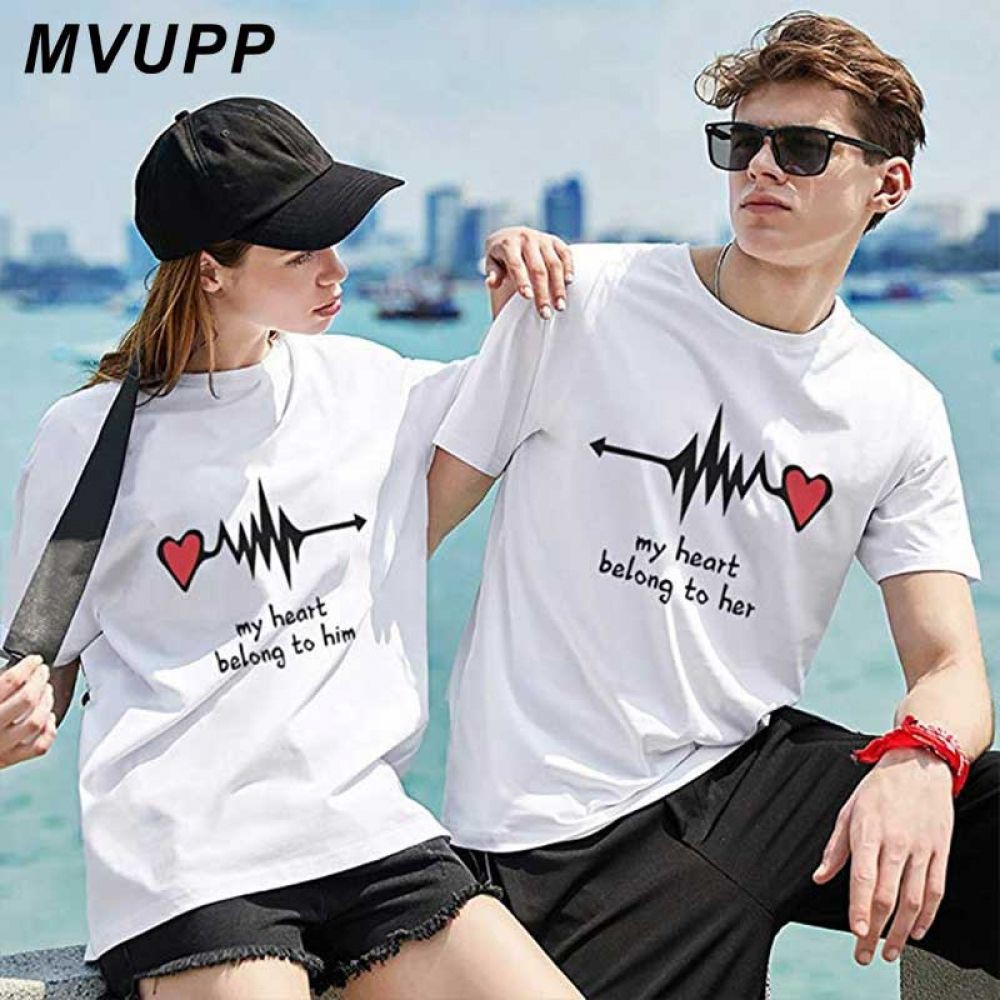 Print couple t shirt, Printed T-shirt