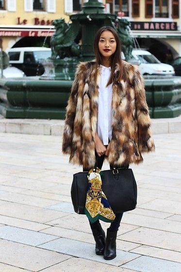 Faux fur zara coat, Fur clothing