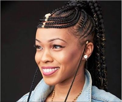 Straight up braids hairstyles 2019, Box braids | Fulani Braids Hairstyles | Black hair, Bob cut ...