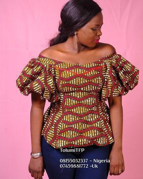Six pieces off shoulder long gown ankara