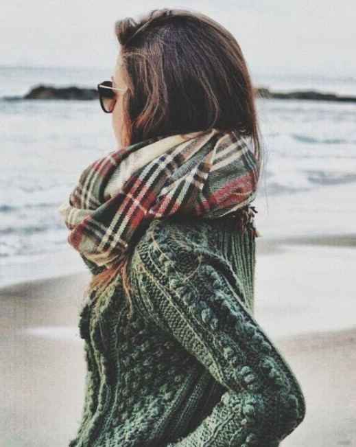 Green army cable knit sweater outfit