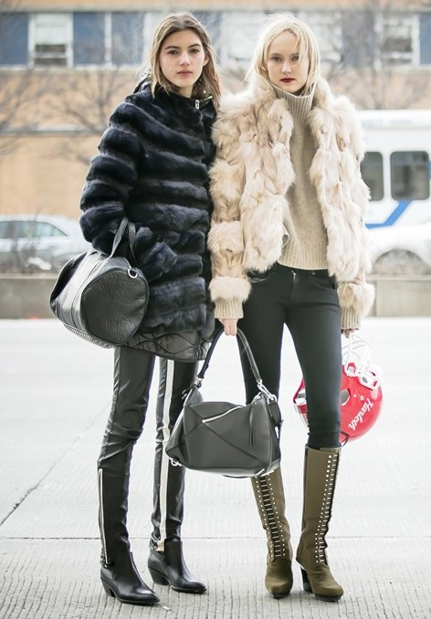 Check out these stylish fur clothing, Fashion week