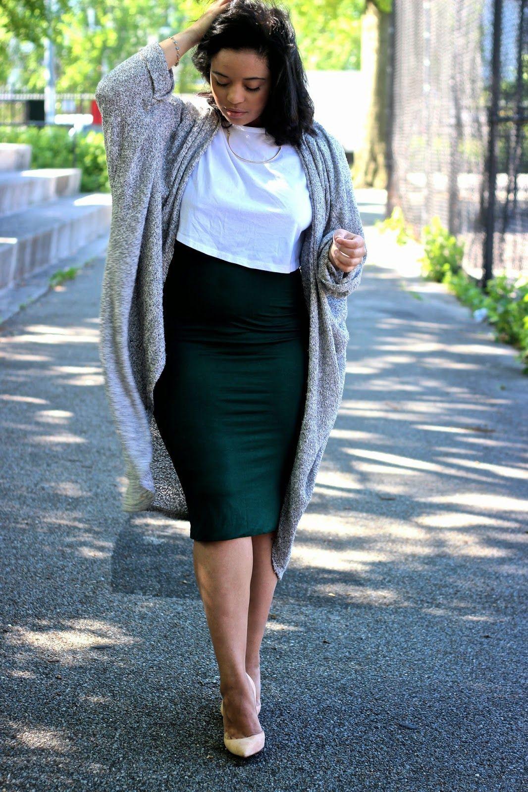 Midi pencil skirt outfit, Pencil skirt