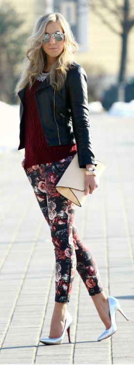 Check these great ideas for pantalon pitillo flores, Pantalón Rosa