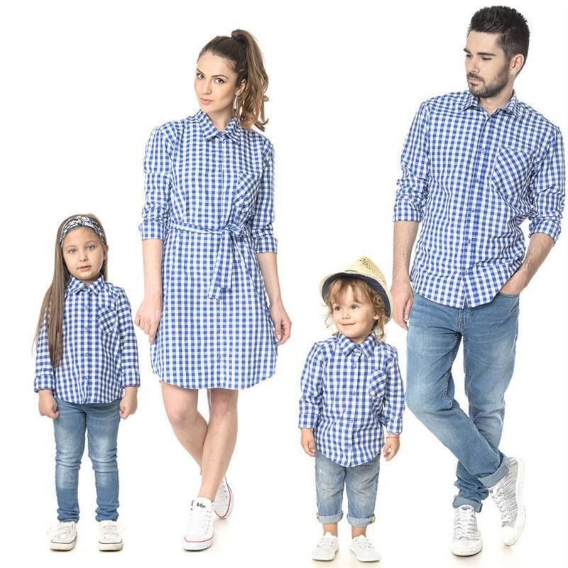 Just adorable and lovely matching outfits family