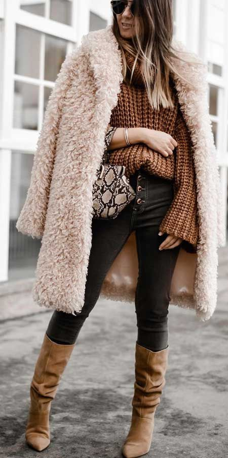 Wear anywhere style teddy coat, Fur clothing