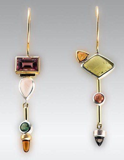 Art Asymmetrical Earrings Ideas, Jewelry design