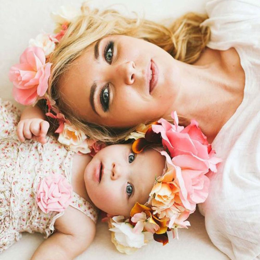 Mother and baby girl photoshoot