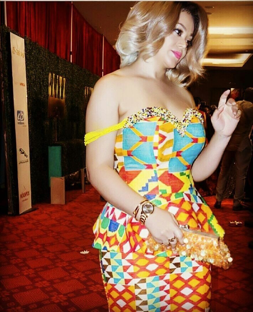 Flashy style for modern kente styles, African wax prints