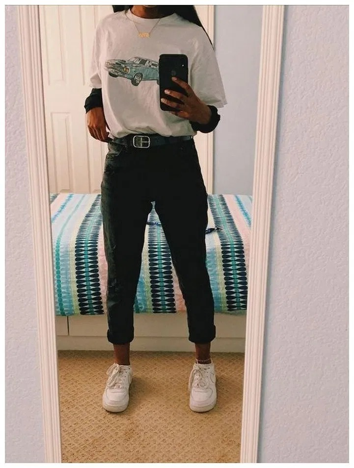 School mom jean outfits, Mom jeans