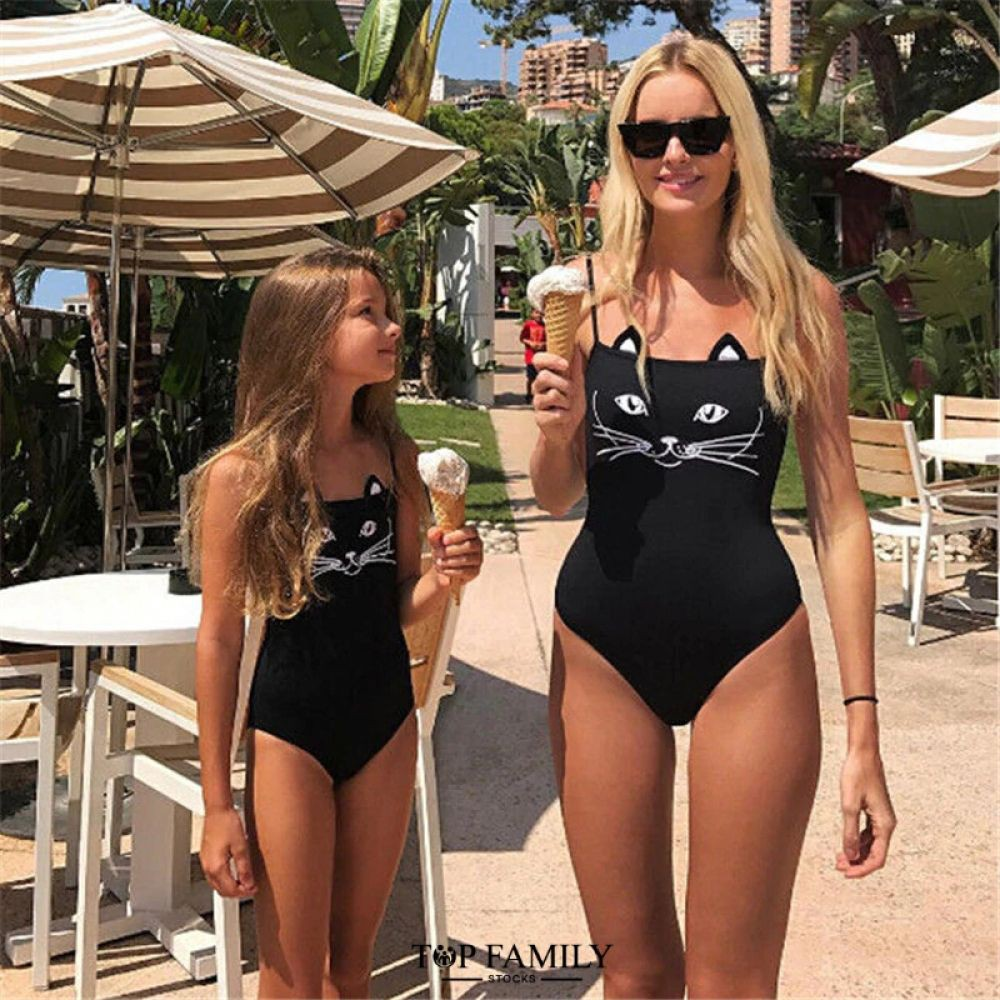 Great outfit ideas for 2019 mother daughter bikini, One-piece swimsuit
