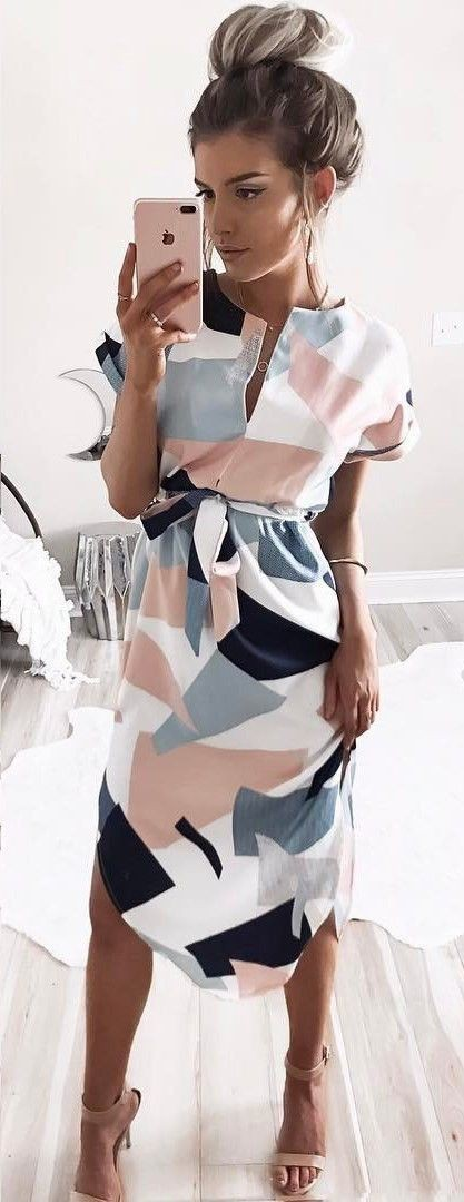 Nice to watch spring dresses casual 2018, Casual wear