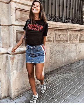 Trendy outfits for denim skirt outfits 2019, Denim skirt