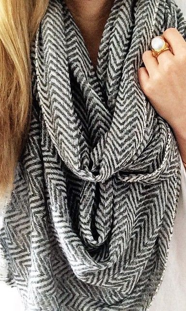 Handpicked selection of herringbone cashmere scarf, Cashmere wool