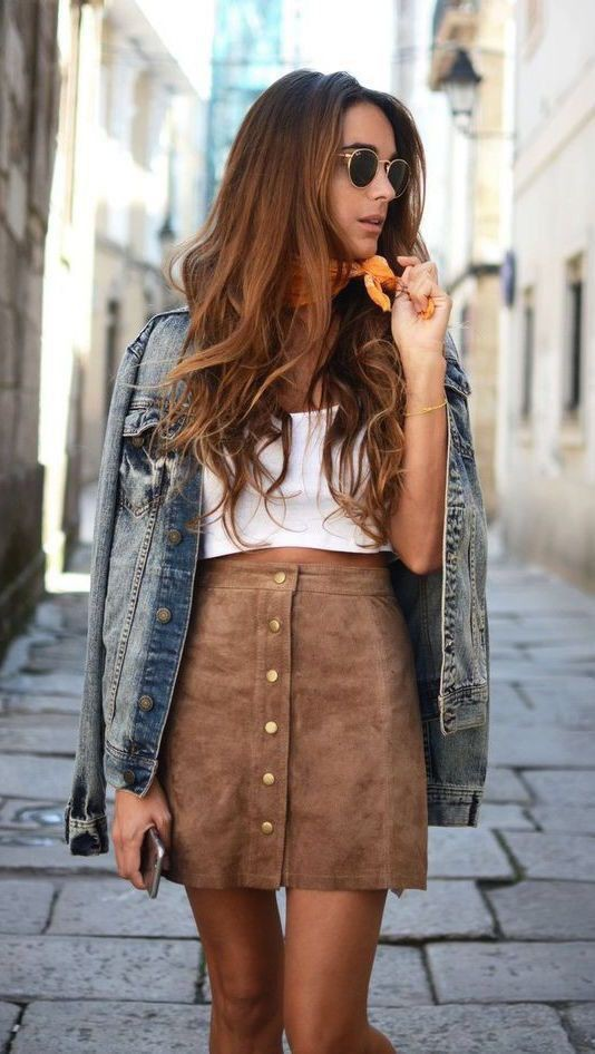 Holidays outfit ideas for outfit skirt, Denim skirt
