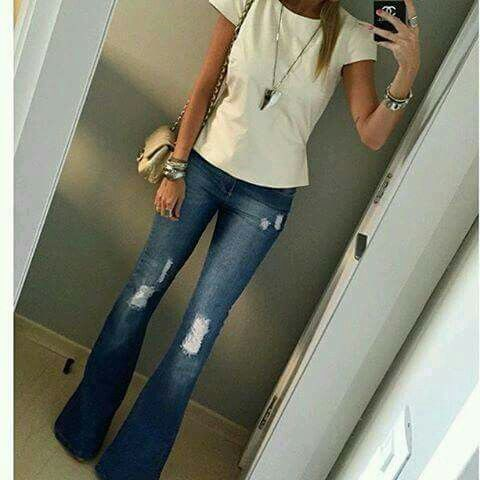 Really great distressed flares, Casual wear