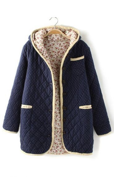 Hooded Coats For Ladies, Polka dot