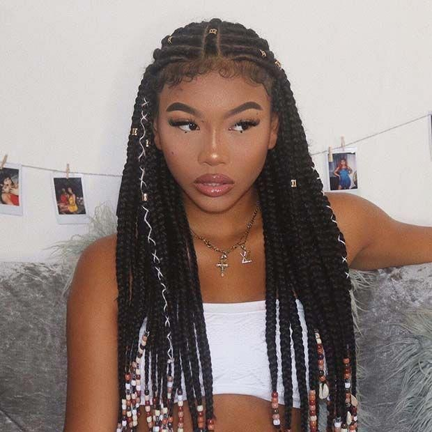 Cute hairstyles black woman braids | Beautiful Black Women ...