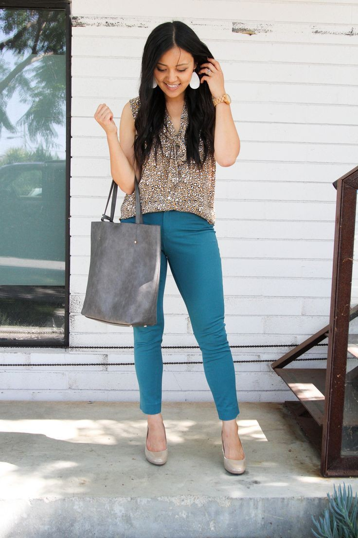 Teal pant outfits wonwn, Casual wear