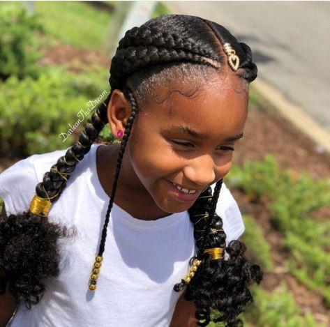 Hairstyles for black kids, Box braids