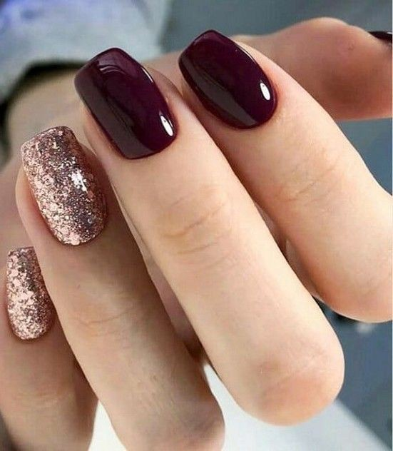 Great ideas for the dark nails 2019, Nail polish