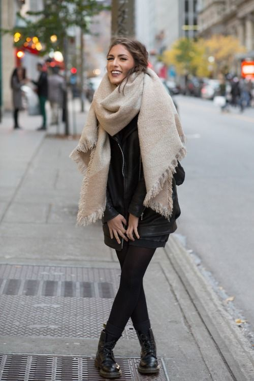 Worth seeing pictures of big winter scarf, Street fashion