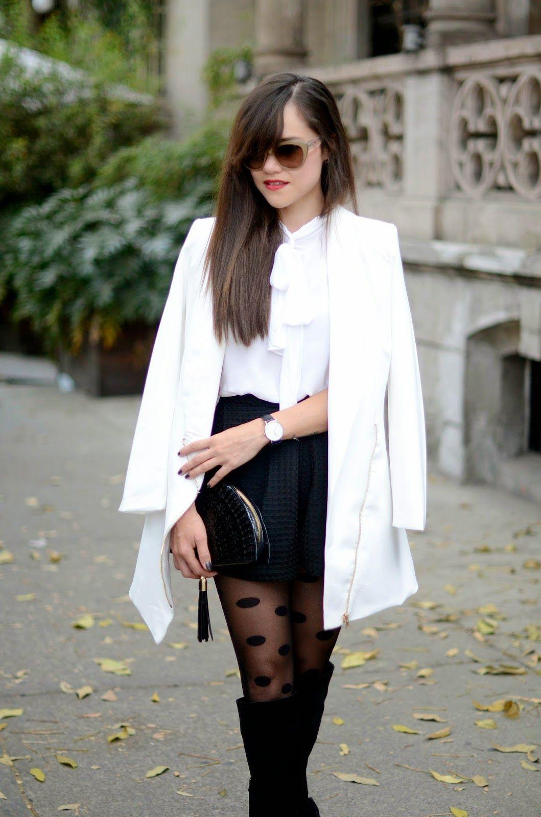 stylish Black Polka Dot Tights