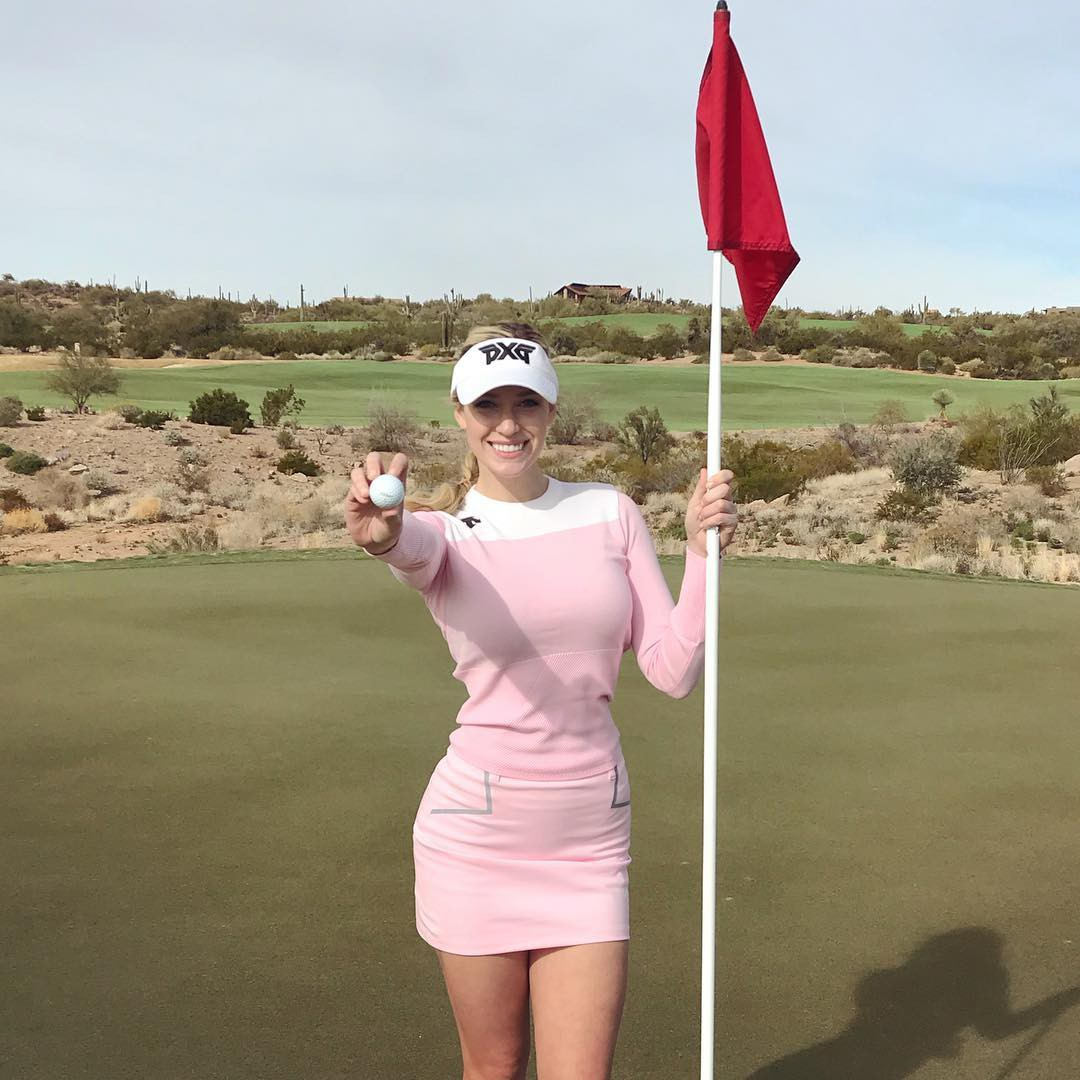 Paige Spiranac Instagram, Hole in one