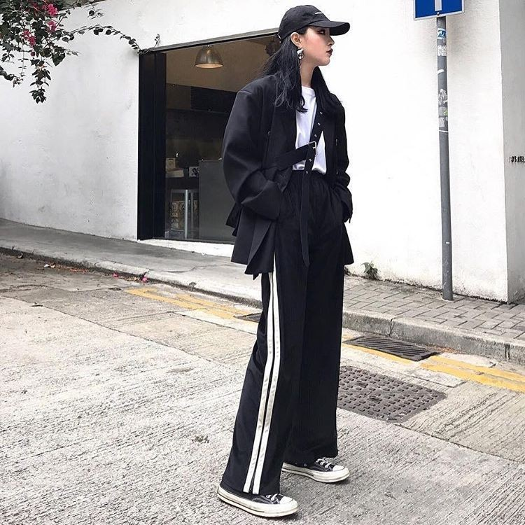Any time wear training pants outfit, Street fashion