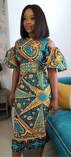 Perfectly designed african dress style, African wax prints