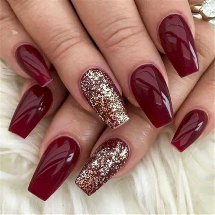Simple christmas acrylic nails, Artificial nails