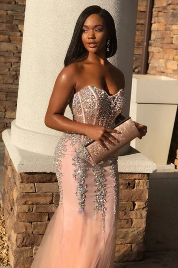 Black Girls Prom Outfits, Prom Party Dress, Evening gown
