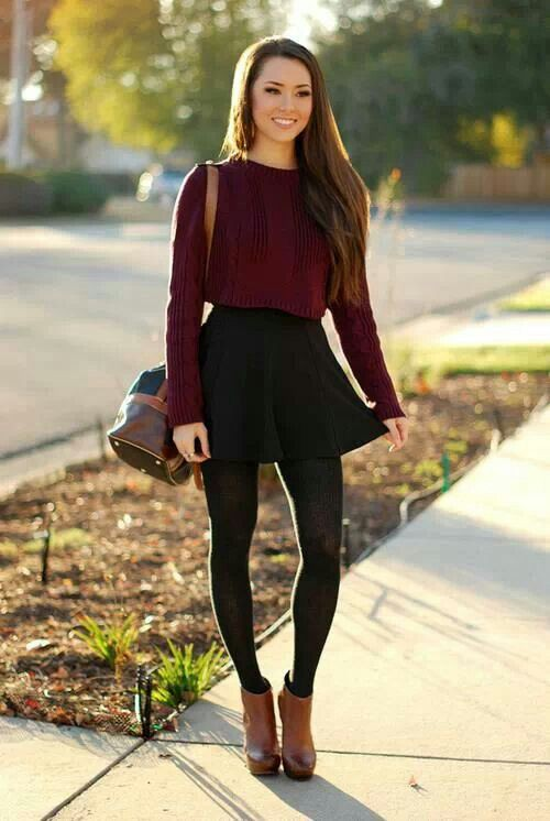 Cute winter outfits skirt, Winter clothing