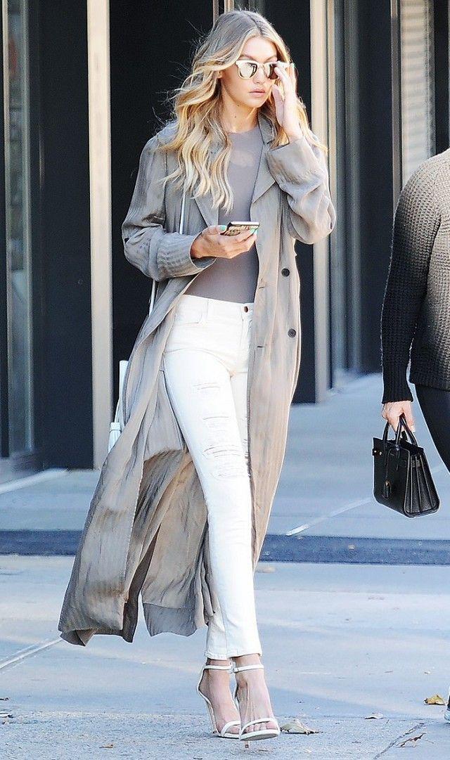 Gigi hadid long jacket, Gigi Hadid